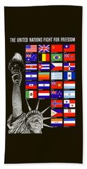 Allied Nations Fight For Freedom Beach Towel by War Is Hell Store