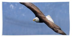 Beach Towel featuring the photograph American Bald Eagle by Doug Lloyd