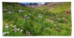 American Basin Wildflowers Beach Towel