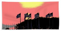 Beach Towel featuring the photograph American Flags1 by Zawhaus Photography
