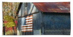 Beach Sheet featuring the photograph Americana Barn by Clara Sue Beym