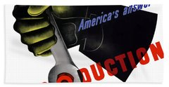 America's Answer -- Production  Beach Towel