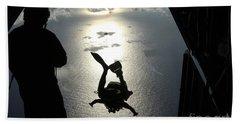 An Air Force Pararescueman Jumps Beach Towel