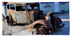 Beach Sheet featuring the photograph ...and Rotate The Tires by Larry Bishop