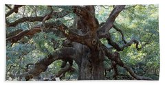 Angel Oak - Dont Climb Or Carve On The Tree Beach Towel