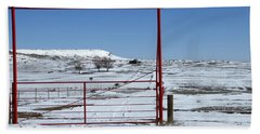 Another Snow On Crawford Ranch Beach Towel
