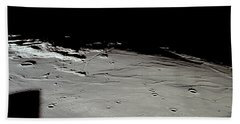 Apollo 11 Approaching Landing Site Beach Towel by Nasa