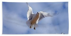 Beach Towel featuring the photograph Applying Brakes In Flight by Clayton Bruster