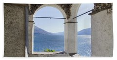 Arch And Lake Beach Towel