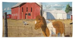 Beach Towel featuring the painting At Home by Norm Starks