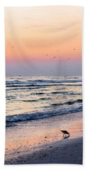 At Sunset Beach Towel