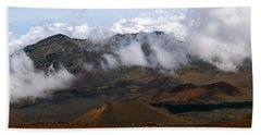 At The Rim Of The Crater Beach Sheet by Patricia Griffin Brett