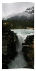 Athabasca Falls Jasper National Park Beach Towel