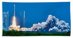 Atlas Launch Beach Towel by Shannon Harrington