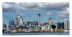Auckland Skyline Beach Sheet