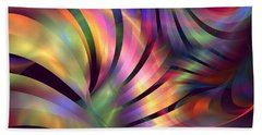 Aurora Borealis Beach Towel by Kim Sy Ok