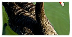 Australian Black Swan Beach Towel