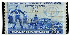 Beach Towel featuring the photograph Automobile Association Of America by Andy Prendy