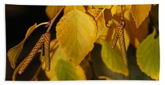 Beach Towel featuring the photograph Autumn Birch In Southern Oregon by Mick Anderson