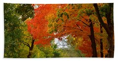 Autumn Canopy Beach Towel by Sue Stefanowicz