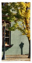 Beach Towel featuring the photograph Autumn Detail In Old Town Grants Pass by Mick Anderson