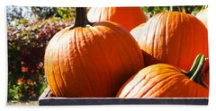 Beach Towel featuring the photograph Autumn Harvest by Julia Wilcox