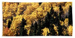 Autumn In Colorado Painting Beach Towel