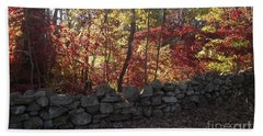 Autumn In New England Beach Towel