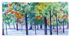 Autumn In The Park Beach Sheet
