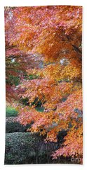 Autumn Momiji Beach Towel