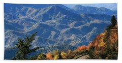 Autumn On The Blue Ridge Parkway Beach Towel by Lynne Jenkins