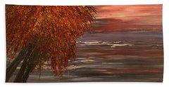 Autumn Sky Beach Towel