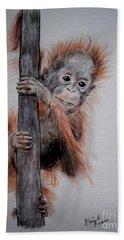 Baby Orangutan  Beach Towel