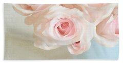 Baby Pink Roses Beach Towel by Lyn Randle