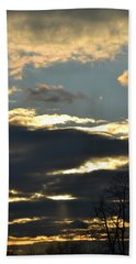 Backlit Clouds Beach Towel by Bonnie Myszka