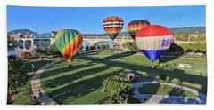 Balloons In Coolidge Park Beach Towel