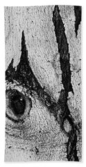 Beach Sheet featuring the photograph Bark Eye by Colleen Coccia