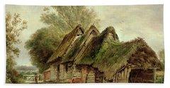 Barns At Flatford Beach Towel by John Moore of Ipswich