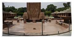 Beach Towel featuring the photograph Base Of The Jallianwala Bagh Memorial In Amritsar by Ashish Agarwal