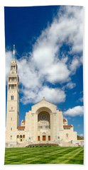Basilica Of The National Shrine Of The Immaculate Conception Beach Towel by Dan Wells