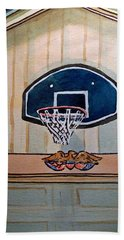 Basketball Hoop Sketchbook Project Down My Street Beach Towel by Irina Sztukowski