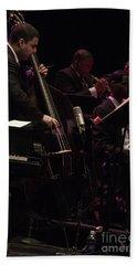 Bass Player Jams Jazz Beach Sheet