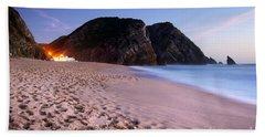 Beach At Evening Beach Towel