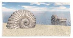 Beach Towel featuring the digital art Beach Of Shells by Phil Perkins