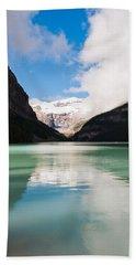 Beautiful Lake Louise Beach Sheet by Cheryl Baxter
