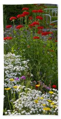 Bed Of Flowers Beach Towel