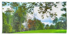 Beach Towel featuring the photograph Beginning Of Fall by Michael Frank Jr