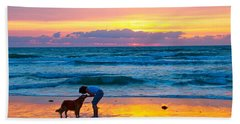 Beach Sheet featuring the photograph Bella At Sunrise by Alice Gipson