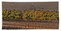 Beach Towel featuring the photograph Berlin Cathedral ... by Juergen Weiss