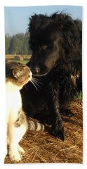 Best Buddies Portrait Beach Towel by Kent Lorentzen
